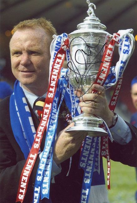 Alex McLeish, Rangers, signed 12x8 inch photo.